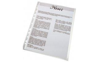 ESSELTE Plastficka Premium A4 Präglad 0,09 mm