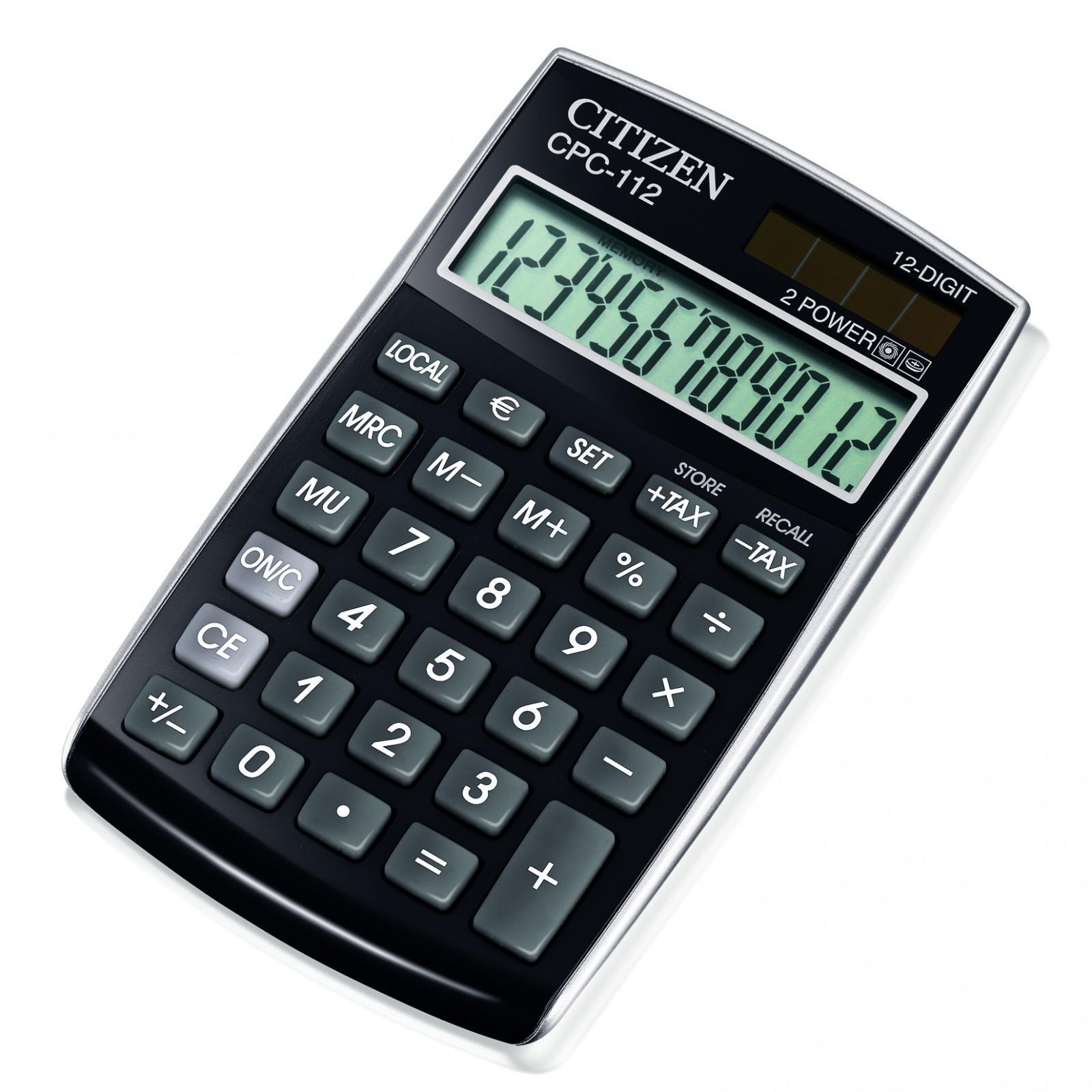 CitizenRäknare CPC 112 Svart
