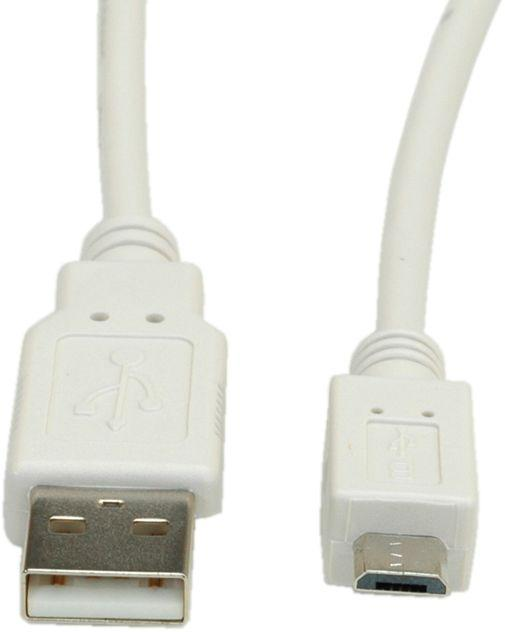 VALUE USB 2.0-kabel USB A till Micro B 0.8 m
