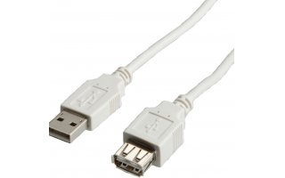 VALUE USB 2.0-kabel USB A M/F 1.8 m