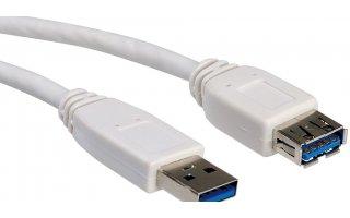 VALUE USB 3.0-kabel USB A till A M/F 3 m