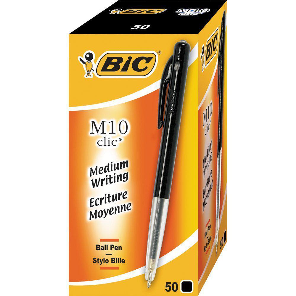 BIC Kulspetspenna Clic M10 Svart