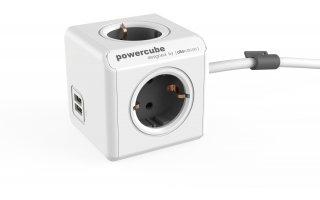 POWERCUBE Extended 1,5m USB Grå