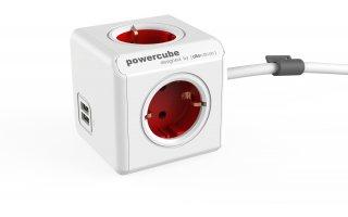 POWERCUBE Extended 1,5m USB Röd