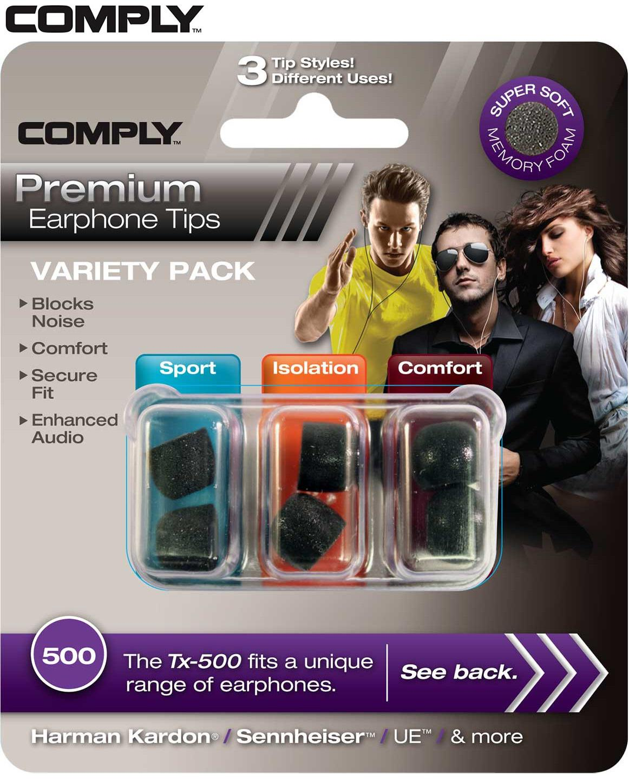 COMPLY Variety Pack Hörlurspropp 500 Large (3 Par)