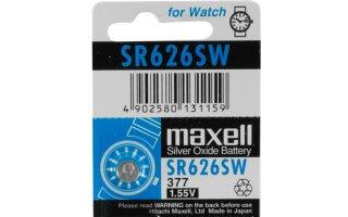 MAXELL Klockbatteri Silveroxid 377/SR626SW