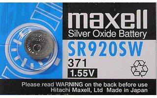 MAXELL Klockbatteri Silveroxid 371/SR920SW