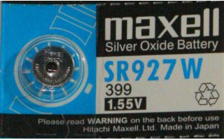 MAXELL Klockbatteri Silveroxid 399/SR927W