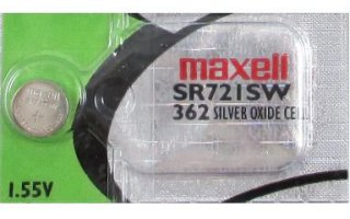 MAXELL Klockbatteri Silveroxid 362/SR721SW