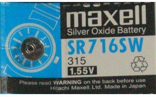 MAXELL Klockbatteri Silveroxid 315/SR716SW