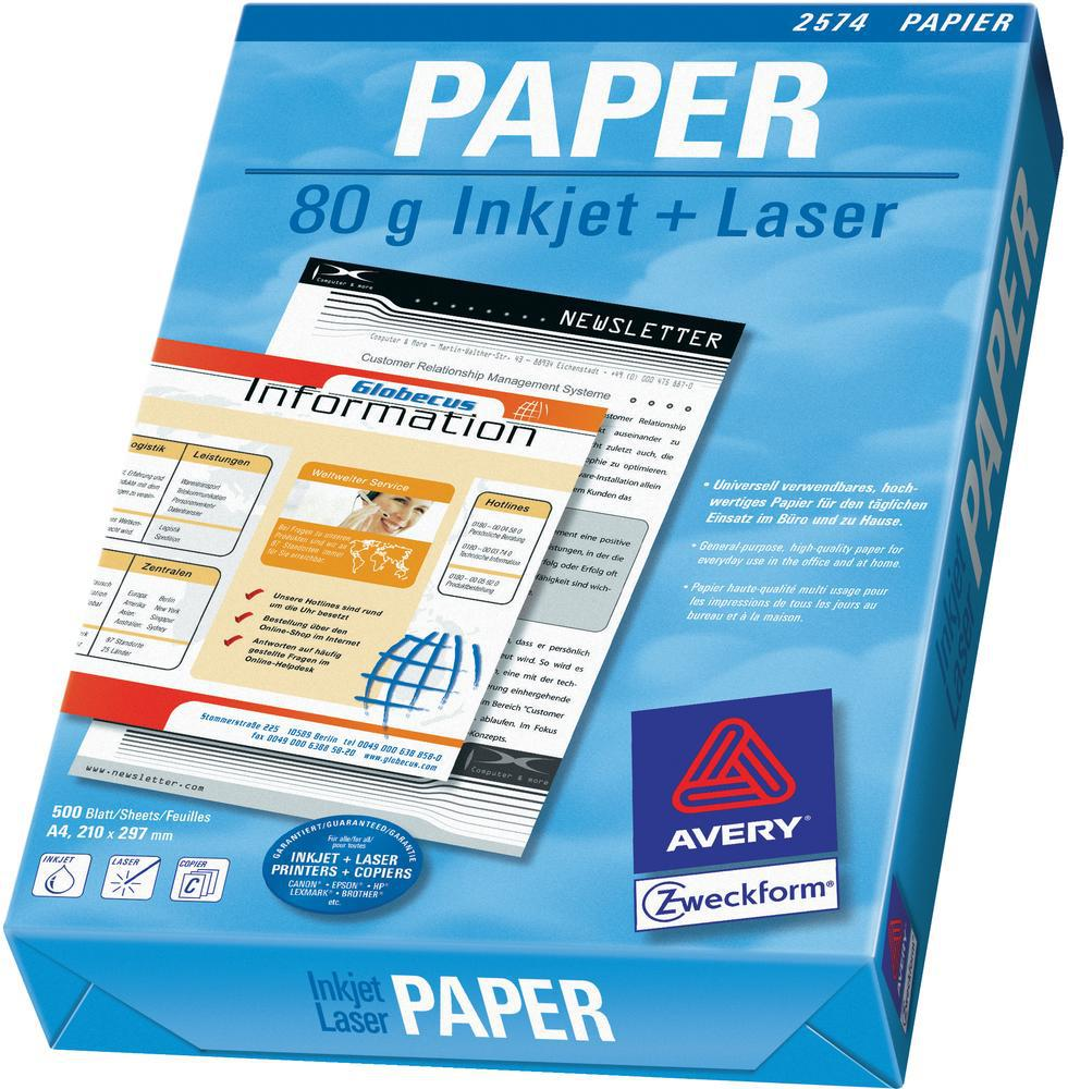 AVERY A4 Matt Multifunktions-Papper 80 gram