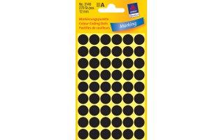 AVERY Etiketter Märkning med Färgprickar (Svart)