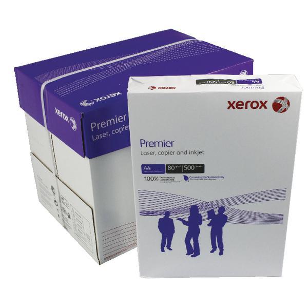 Skrivarpapper A4 ohålat kopieringspapper Xerox Premier, 2500 st