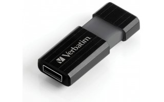 VERBATIM Pinstripe USB Drive 8 GB Svart