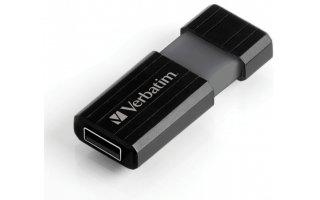 VERBATIM Pinstripe USB Drive 32GB Svart