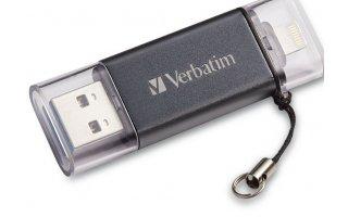 VERBATIM iStore n Go Lightning/USB 3.0-enhet 64 GB Silver