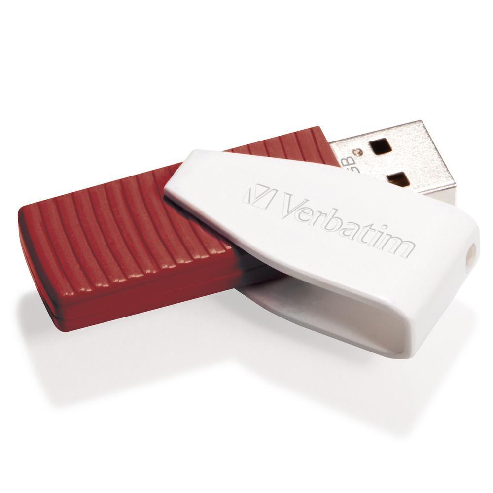 VERBATIM Swivel USB Drive 16 GB Röd