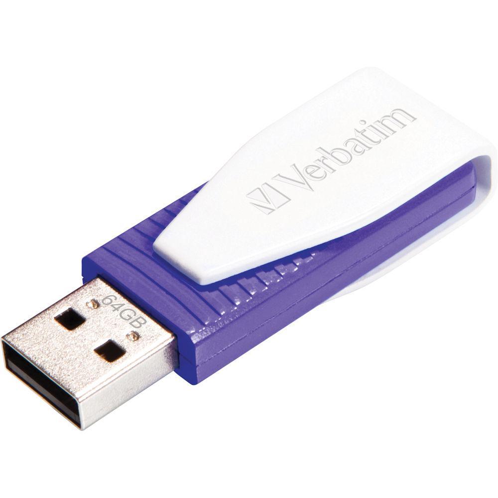 VERBATIM Swivel USB Drive 64 GB Lila