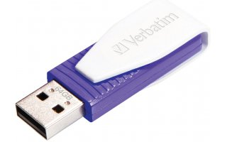 VERBATIM Swivel USB Drive 64 GB Lila