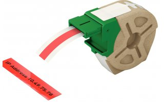 LEITZ Icon Etikettkassett (plast) 12mm x 10m Röd