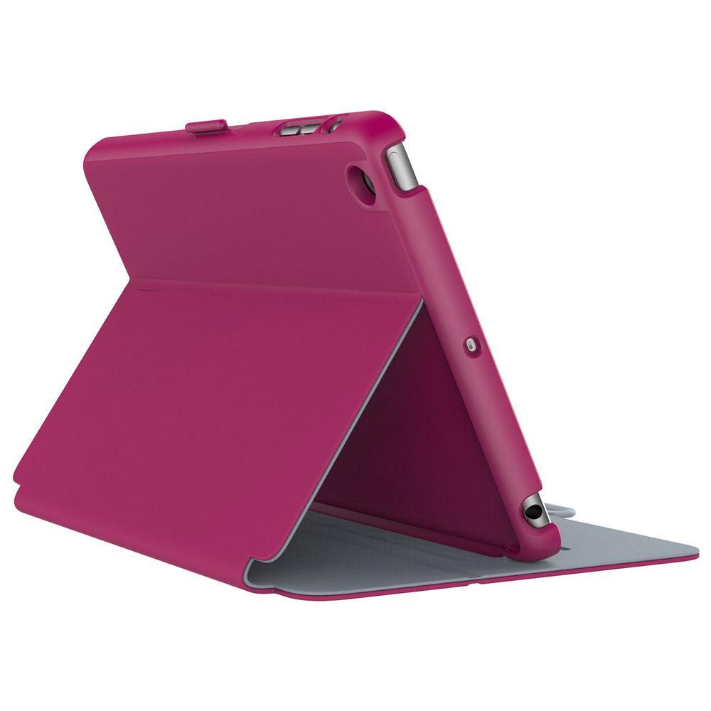 SPECK ipad Mini 4 Stylefolio Fuchsia Pink/Nickel Grey