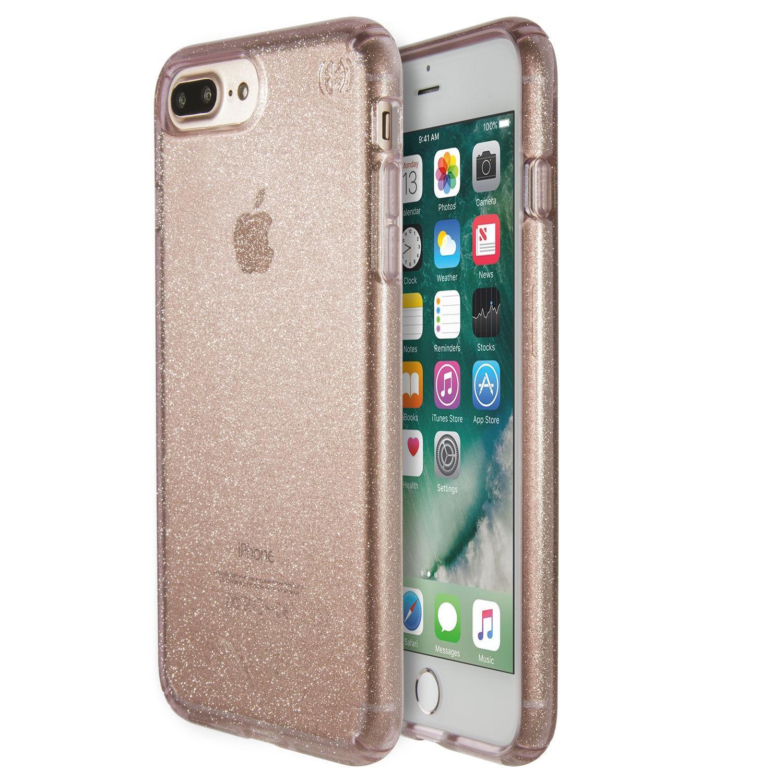 SPECK iPhone 7 Plus Presidio Genomskinlig med Rosa Guld Glitter