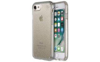 SPECK iPhone 7 Presidio Clear Genomskinlig med Guld Glitter