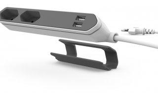 POWERCUBE Grenuttag med USB Boston Grå