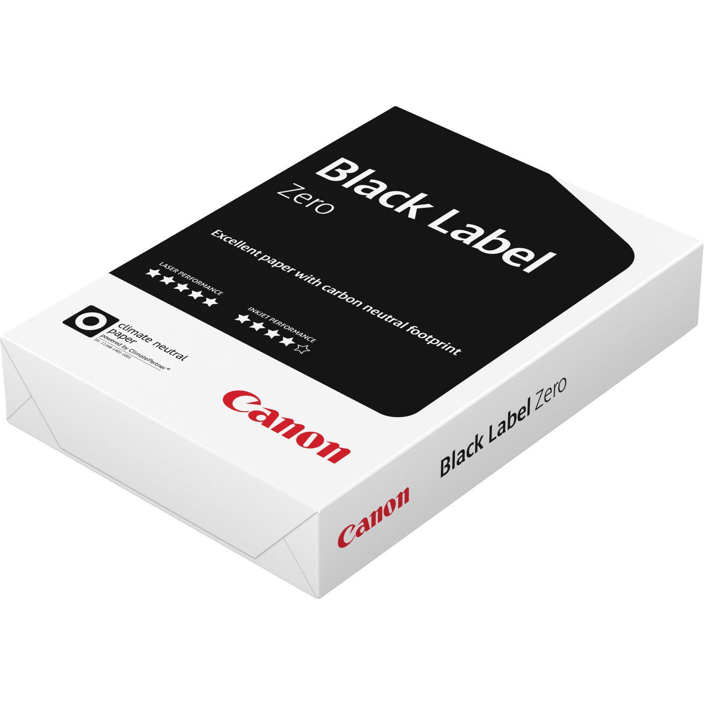 Skrivarpapper A4 ohålat kopieringspapper Canon Black Label, 2500 st