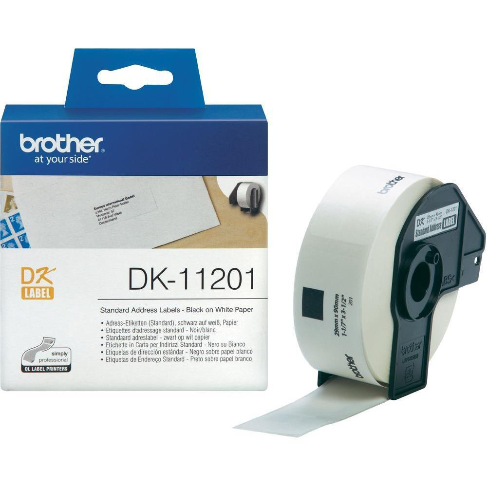 BROTHER DK-11201 Standardadressetiketter 29 mm x 90 mm