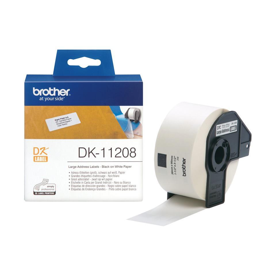 BROTHER DK-11209 Små adressetiketter 29 x 62mm
