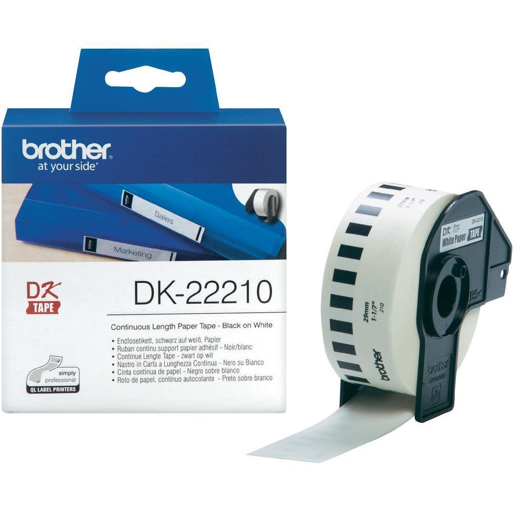 BROTHER DK-22210 Fortlöpande papperstape 29mm x 30,48m