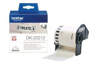 BROTHER DK-22212 Fortlöpande tape med platsfilm 29mm x 30,48m
