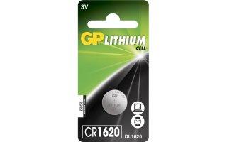 GP Lithium Knappcell 3V Batteri CR1620