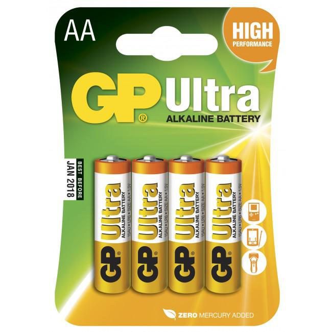 GP Ultra Alkaline 1,5V Batteri LR06/AA