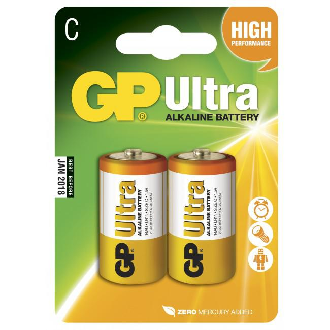 GP Ultra Alkaline 1,5V Batteri LR14