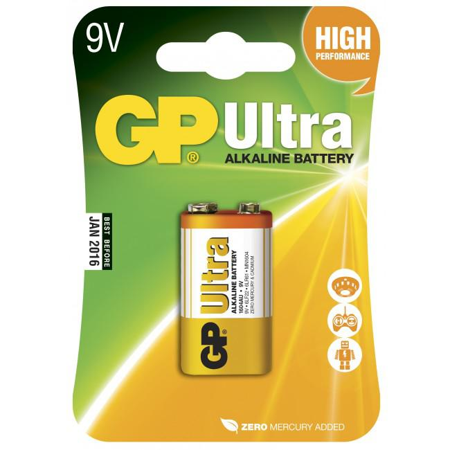 GP Ultra Alkaline 9V Batteri 6LF22