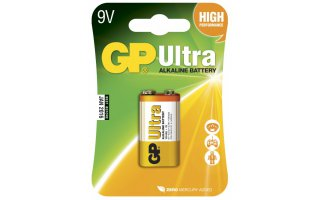 GP Ultra Alkaline 9V Batteri 6LF22