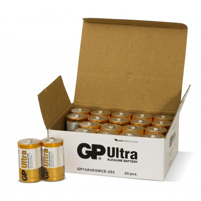 GP Ultra Alkaline 1,5V Batteri LR20