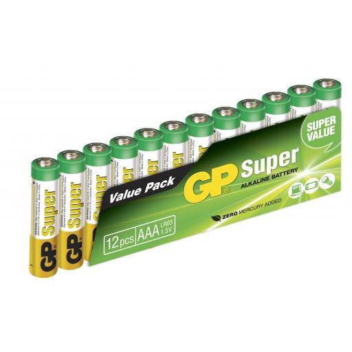 GP Super Alkaline 1,5V Batteri LR03/AAA