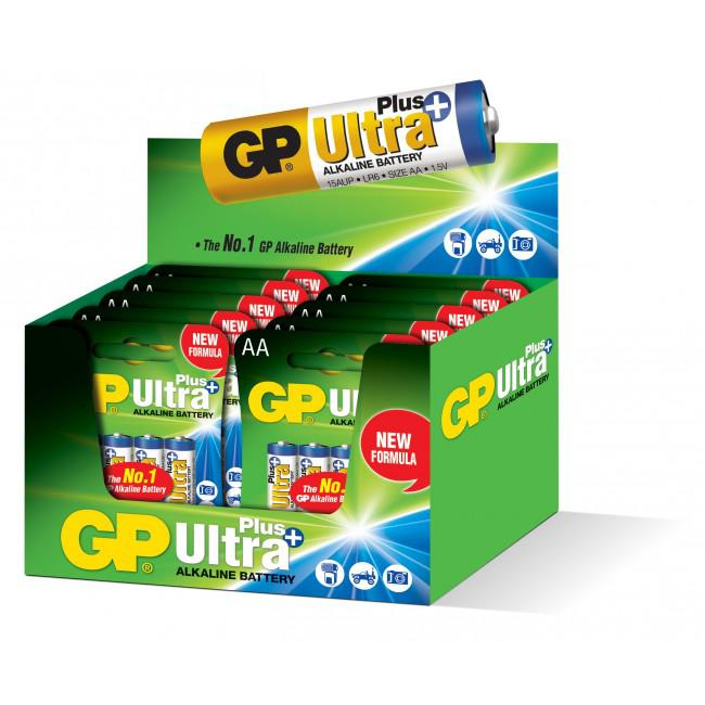 GP Alkaline Ultra Plus 1,5V Batteri LR06/AA