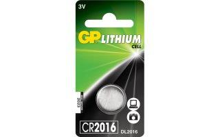 GP Lithium Knappcell 3V Batteri CR2016
