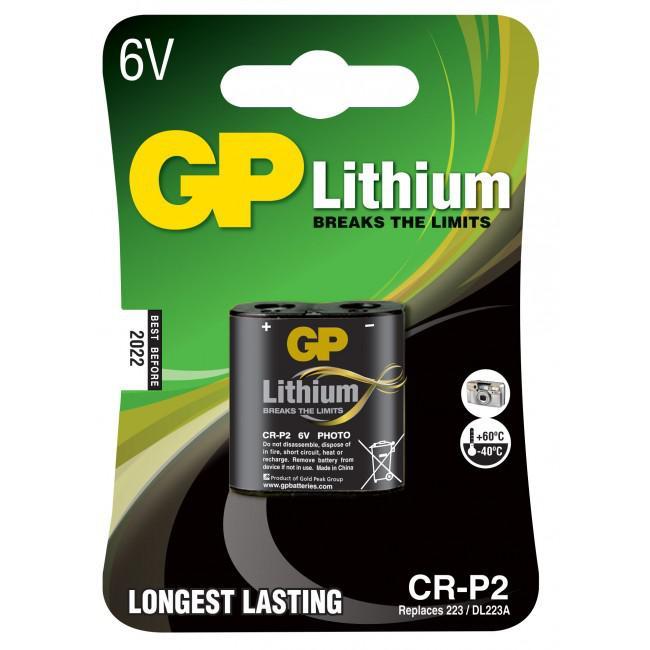 GP Lithium Batteri CR-P2/6V