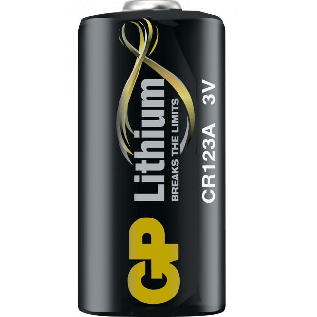 GP Lithium Batteri CR123A/3V