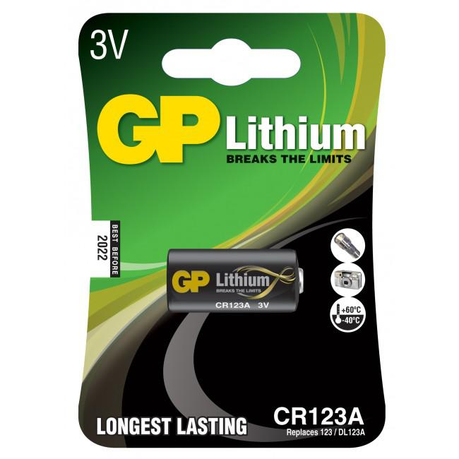 GP Lithium Batteri CR123A/3V