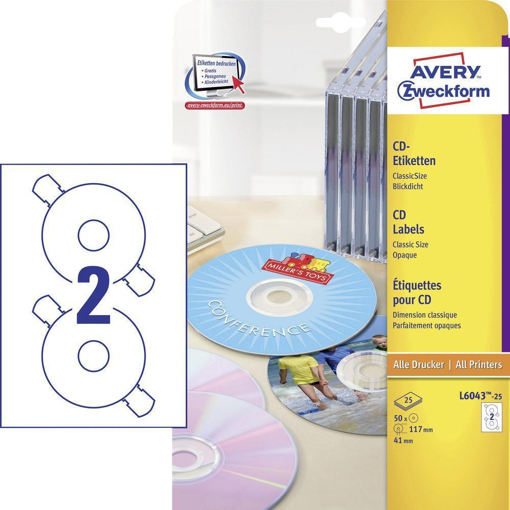 AVERY CD Etiketter (L6043)