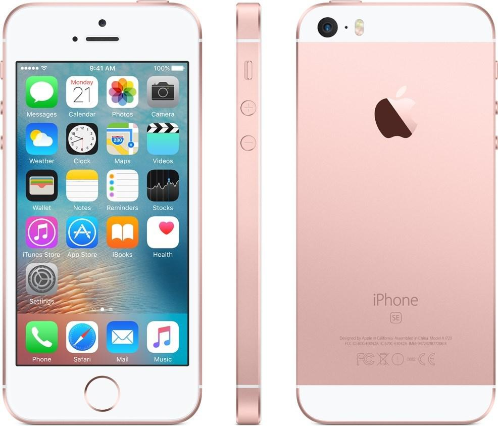 APPLE iPhone SE 128 GB Rosa-Guld