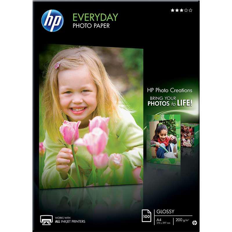 Fotopapper A4 Glättat HP för vardagsbruk 200 gram