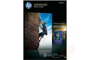 HP 10x15 Avancerat Glättat Fotopapper 250 gram