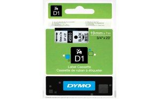 DYMO D1 Tape svart på vit 19mm x 7m